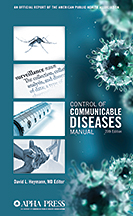 Control of Communicable Diseases Manual, 20th Edition<BR>Non-Member Price: $65.00<BR>Member Price: $45.50