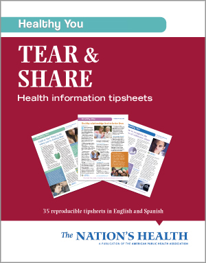 Healthy You Tear & Share: Health Information Tipsheets<BR>Non-Member Price: $22.00<BR>Member Price: $18.00